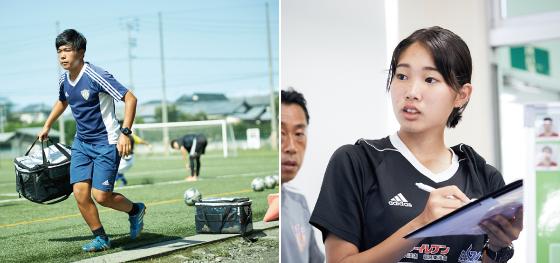 学内チームに長期帯同しサッカートレーナーとして日々活動
